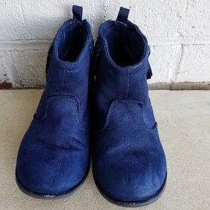 Crazy 8 Navy Ankle Boots